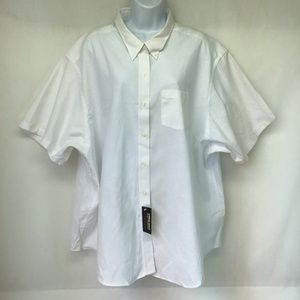 Van Heusen Women's White Shirt Short Sleeve 4XL